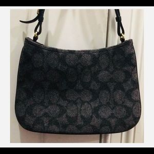 Coach wool signature purse gray/black.  Perfect
